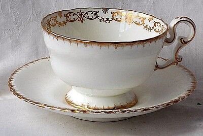 Large C19Th Copeland Cup And Saucer With Gilt Decoration