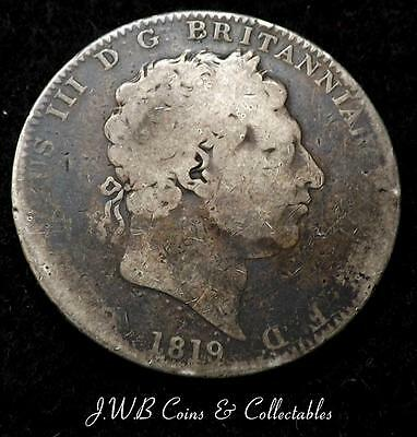 1819 George III Silver Crown Coin