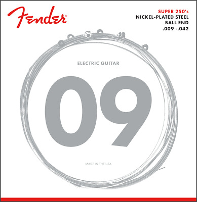 Fender Super 250L Nickel-Plated Steel Electric Guitar Strings Set - LIGHT 9-42