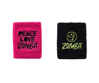 Zumba ~ Peace, Love Zumba wrist bands - 2 Pack! ~ New In Package !