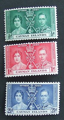 1937 set of Cayman Islands Coronation mint stamps