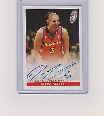 Diana Taurasi 2006 Autographed Signed Wnba Card No Number Uconn Phoenix Mercury