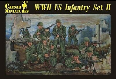 Plastic Toy Soldiers 1/72 Scale WWII US Army Set #2 39 Figures Caesar #71