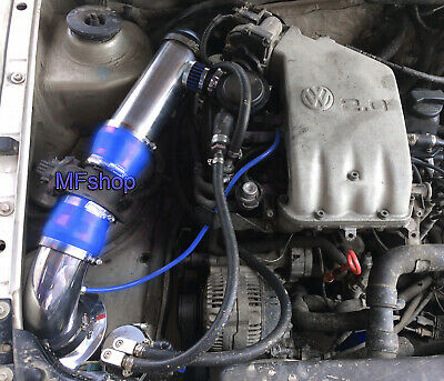 Blue For 1993-1998 Volkswagen Golf Jetta Cabrio 2.0L L4 Cold Air Intake Kit
