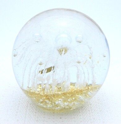 Venice Area Orchid Society VAOS Art Show Art Glass Gold Flake Bubble Paperweight