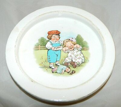 Antique Buffalo Pottery Advertising Grace Drayton Campbell's Kids Child's Bowl
