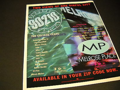MELROSE PLACE and 90120 TWO VIEWS - ONE SINFUL CITY 1994 Promo Poster Ad mint