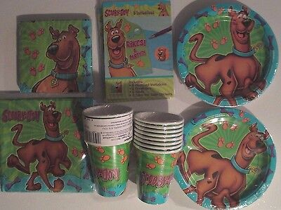 SCOOBY DOO Where Are You ? Birthday Party Supply Kit w/ Small Napkins & Invites