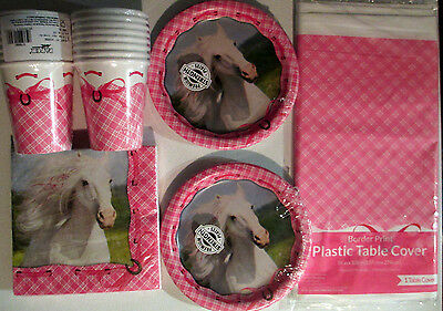 HEART MY HORSE PINK - Birthday Party Supply Set Pack Kit for 16