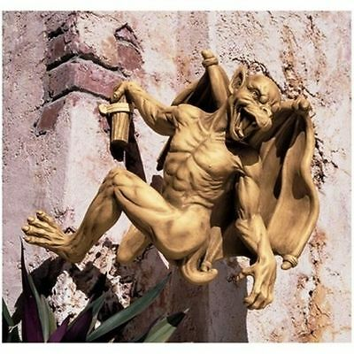 Historic Large Medieval Gothic Sculpture Mythical Gargoyle Wall Statue NEW