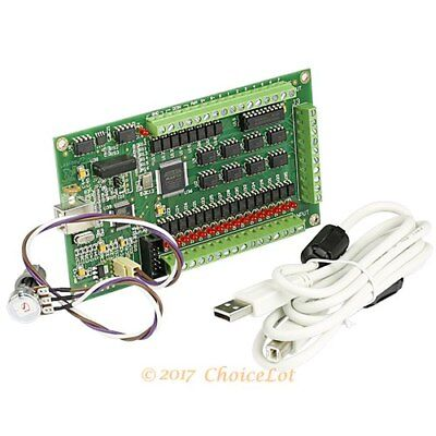 200KHZ High Speed 4 Axis Mach3 USB CNC Carving Machine Controller Card Module