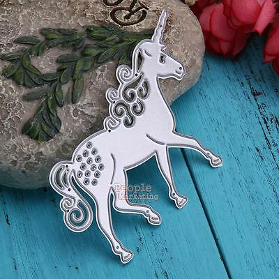 Unicorn Hollow Metal DIY Cutting Dies Stencil Scrapbook Album Paper Card Craft