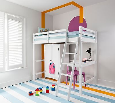 Cabin Bed High Sleeper Kids Bunk Bed Odin in Choice of Colours