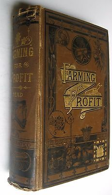 Farming for Profit John Read 1880 Agriculture Handbook Fruit Crops Livestock OLD