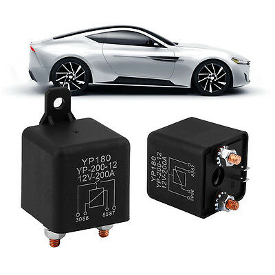 Universal 12V-200A Auto Car Relay High Curent Truck Motor Replay Device Black HT