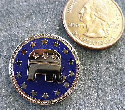 Vintage Sterling Silver Republican Convention Pin Pendant GOP Elephant