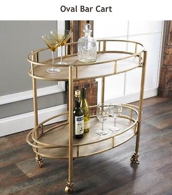 Eliza Gold Metal Contemporary Modern Bar Cart