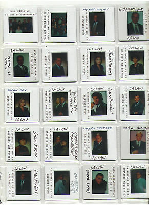 L.a. Law Press Kit A Set Of 20 Slides Cast Dysart Smits Bernsen Larry Drake Dey