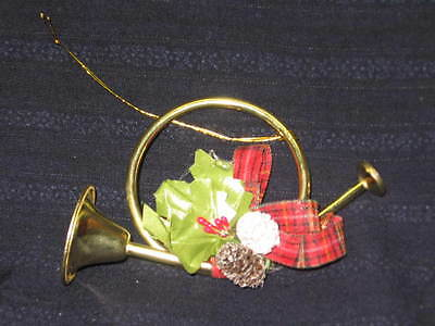 Christmas Tree Decoration Ornaments French Horn Set Of 6 Lot New Never Used!!