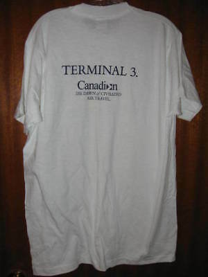 Canadian Terminal 3 Airlines Airport Toronto T-Shirt Size Xl Never Used!! New!!