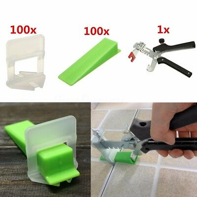 50pcs Medium & Large Tile Flat Leveling Spacer System Pliers Tool Flooring Wall