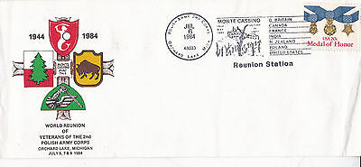 United States 1984 World Reunion of 2nd Polish Army Corps Veterans FDC VGC
