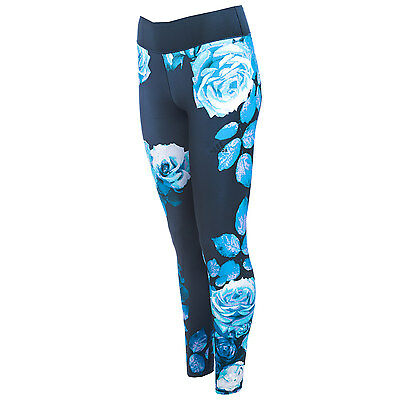 Womens adidas Womens Ultimate Fit Europe Tights in Blue - 8-10