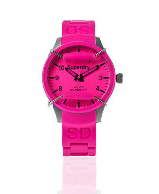 New Womens Superdry Scuba Midi Watch Pink
