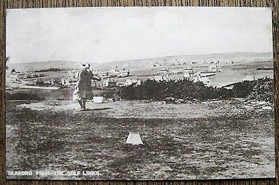 Seaford From The Golf Links, Sussex. Old Postcard.