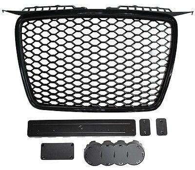 AUDI A3 2005>2008 Front Grille RS Style Black With Black Surround 05> only