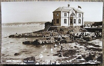 Portrush, The Beach, Co. Antrim, Northern Ireland.  Real Photo Old Postcard.