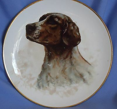 Antique Dresden  German Shorthaired Pointer Plate