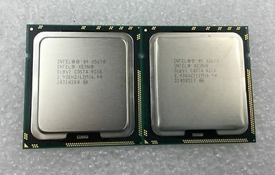 Matched Pair Intel Xeon Six Core X5670 12M Cache, 2.93GHz SLBV7 CPU Processors