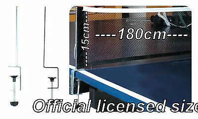 Table Tennis Net Post Clamp Stand Holder Set Ping Pong Replacement Mesh