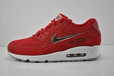 new style 04a94 0c6b3 Men Nike Air Max 90 Essential Running Shoe Size 9 Red White Silver 537384  602