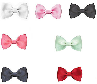 """NEW 66mm 2.5"""" Pre Tied Bow Tie Grosgrain Ribbon  Eco Quality Party Wedding Craft"""