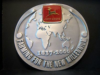 John Deere 2000 Millennium Service Training Belt Buckle NZ Australia  Ltd Ed 001