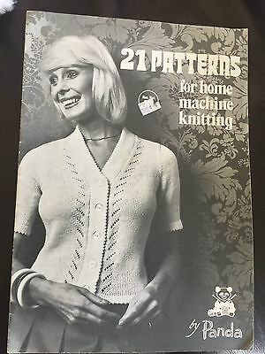 Machine Knitting  21 Vintage Knitting Patterns From 1975