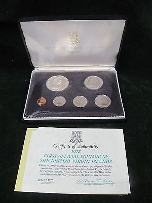 1973 First Coinage of the British Virgin Islands 6 Coin Proof Set