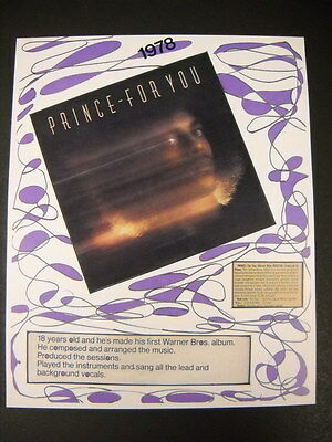 PRINCE is FOR YOU rare and obscure VINTAGE Collage Promo Poster Print perf cond