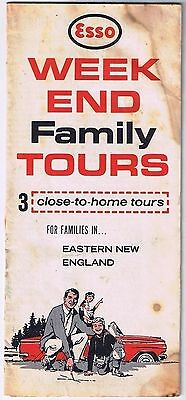 Eastern New England Weekend Family Tours Esso Road Map 1968