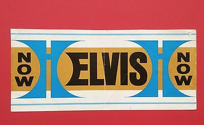 Elvis Presley-Rare Elvis Now Small Hilton Banner From 1974-Impossible To Find
