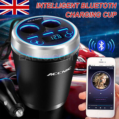 Wireless Bluetooth FM Transmitter Car MP3 Player Audio LCD 2/3 USB Port Charger
