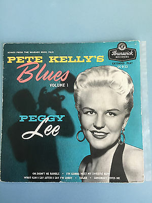 peggy lee pete kelly blues ep tri brunswick ex condition