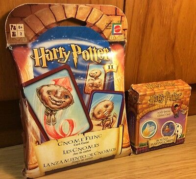 Harry Potter Gnome Fling Toss Card Game New & Sealed With Round Playing Cards