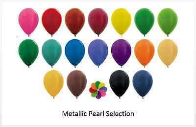 "50 or 100 5"" 5 Inch Metallic Pearl Balloons Wedding Christening Engagement"