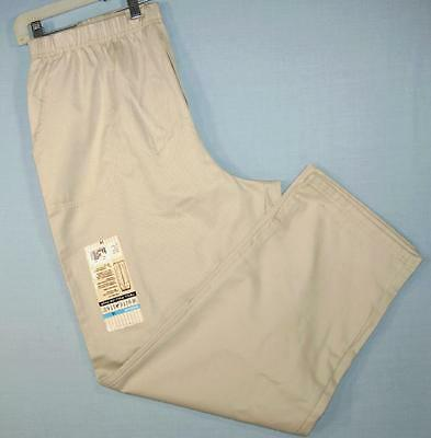 e76c2615a9a Womans White Stag Pull-On Pants Elastic Waist Size 18 Cotton Blend Beige  5577