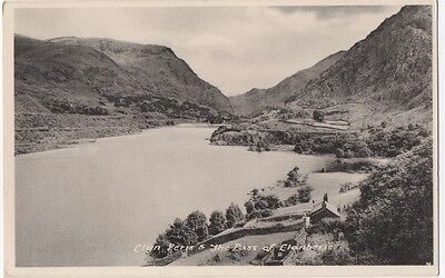 Mountain Road Lake House Clyn Peris & The Pass Of Clanberis Wales  Postcard