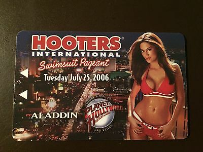 Aladdin Casino- Las Vegas 2006 Hooters Swimsuit collectors hotel room key card