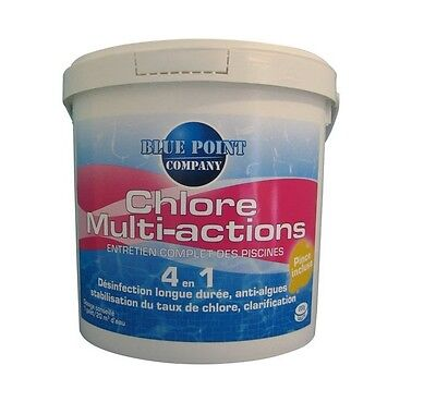 CHLORE MULTI ACTIONS 4 EN 1 EAU PISCINE désinfection anti algues clarifie 5 KG